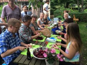 kookworkshop in de tuin