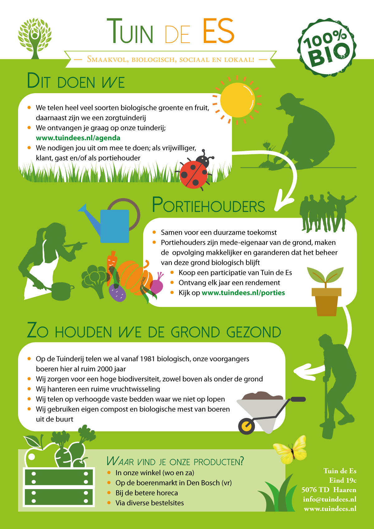 infographic op website en facebook